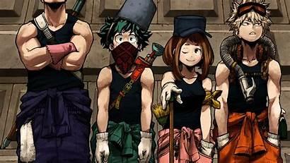 Academia Hero Boku Background Wallpapers Midoriya Bakugou
