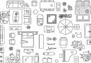 Furniture clipart birds eye view - Pencil and in color