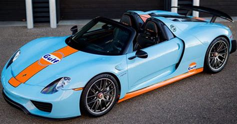 One Of Only Two Produced Porsche 918 Spyder In Gulf Colors