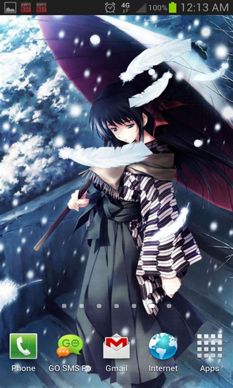 Anime Live Wallpaper App - anime snow live wallpaper android app free apk by