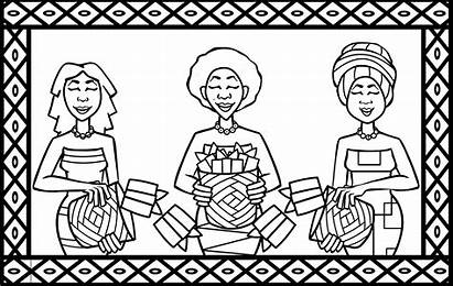 Coloring African Africa South Pages Traditional Mothers
