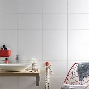 best faience metro blanc contemporary lalawgroupus With carrelage adhesif salle de bain avec mur a led