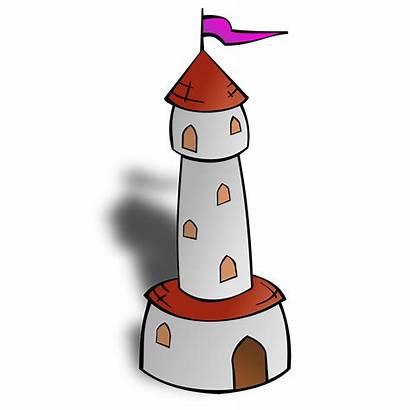 Tower Castle Cartoon Clip Clipart Flag Map