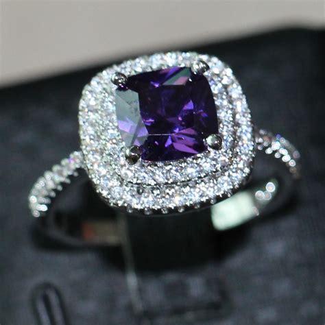 aliexpress buy choucong 3ct purple 5a zircon