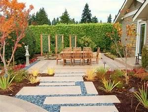 idee amenagement espace vert With jardins et terrasses photos 3 amenagement dun espace vert avec terrasse par le