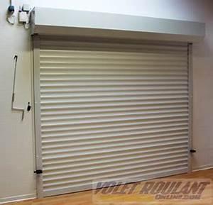 Porte de garage enroulable sur mesure aluminium pas cher for Porte de garage enroulable de plus porte interieur