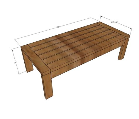 ana white  outdoor coffee table diy projects