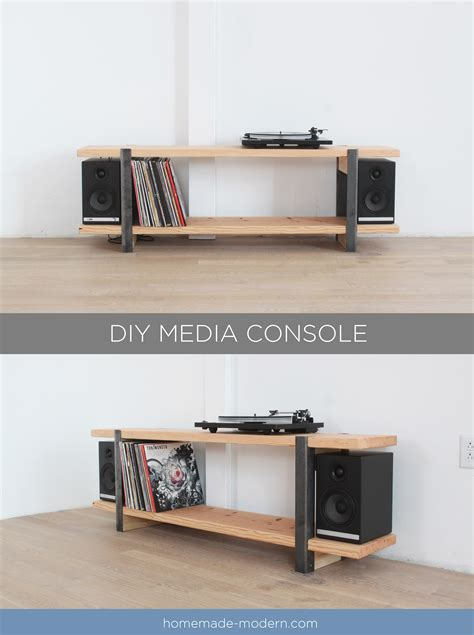 homemade modern ep diy media console