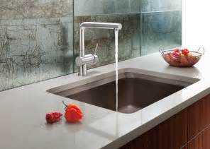 designer kitchen faucet the new blanco silgranit ii vision designer kitchen sink offers luxurious usability at great