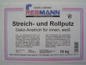 Roll Und Streichputz : rebmann roll streichputz p 7527 8 kg eigenmarke putze farben wohnen rebmann ~ Frokenaadalensverden.com Haus und Dekorationen