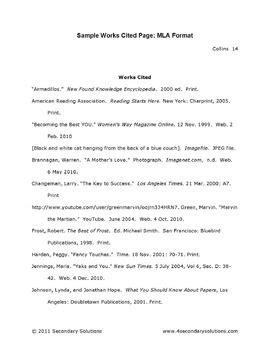 mla format essay  works cited page  step  step