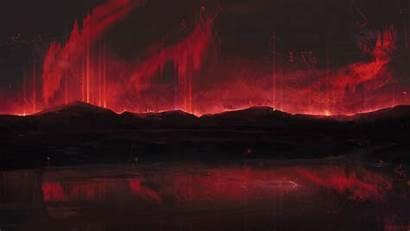 Dark 4k Mountains Spots Background 1080p Dual