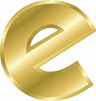 Letter Alphabet Clip Clipart Letters Gold Effect