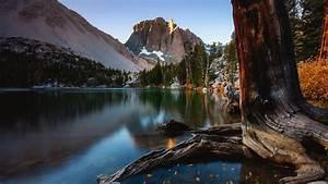 california, lake, mountain, and, sierra, nevada, with, tree