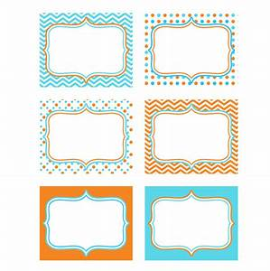 5 best images of large printable labels free editable for Cake labels template