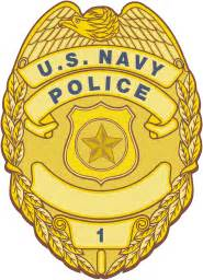 navy police officer badge vector image
