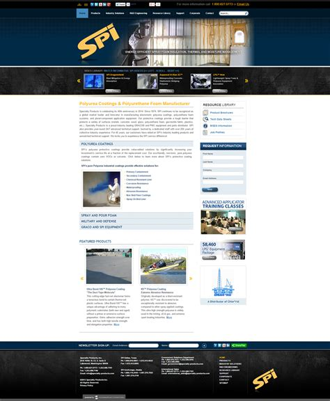 specialty products website upgrade portfolio