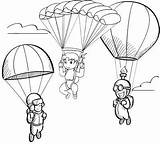 Parachute Coloring Fun Pages Coloringpagesfortoddlers Children Contest Elementary sketch template