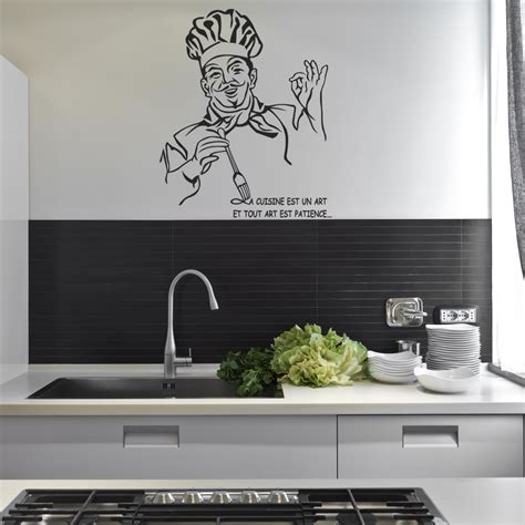 cuisine stickers stickers citation chef cuisine pas cher