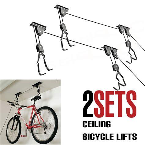 Bike Bicycle Lift Ceiling Mounted Hoist Storage Garage