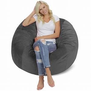 Relax, Sacks, Bean, Bag, Chair, Grey, -, Walmart, Com