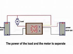 2020 Digital 4 Bit Dc 200v 0 10a Voltmeter Ammeter Panel