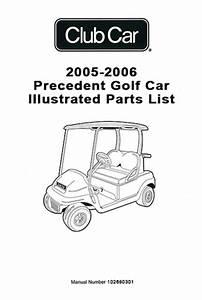 Club Car Precedent Gas Golf Cart Parts Manual