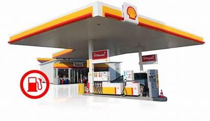 Petrol Transparent Pump Service Shell Station Stations