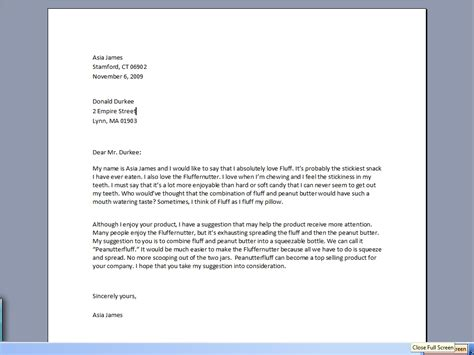 write  letter   company letters  sample