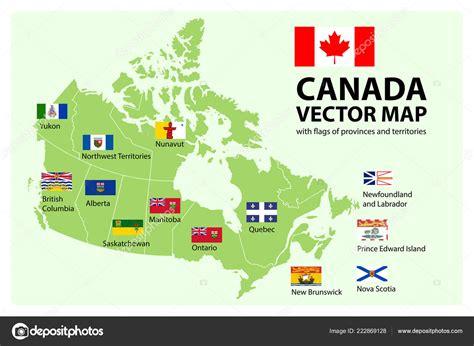 vector set map canada provinces territories borders vector