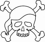 Skull Coloring Pages Bones Crossbones Printable Pirate Halloween Scary Sheets Pirates Theme Baby Adult Sheet Characters Cars Paper Filminspector Drawing sketch template