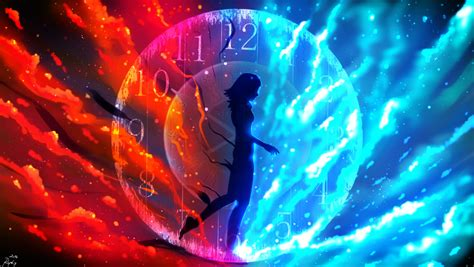 Anime Vire Wallpaper - wallpaper as the time passes by anime clock