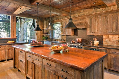 industrial kitchen flooring ruff hewn kitchen rustic with cabinets exposed beams