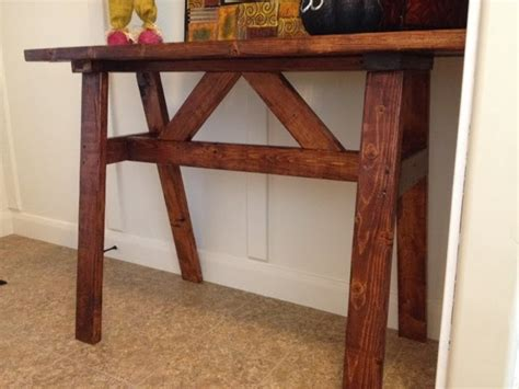 Inexpensive Sofa Tables by Cheap Wood Entry Or Sofa Table Using 2x4 S A Vision To
