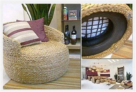 recycled tire rope seat