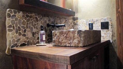 river rock shower rustic contemporary refurbished home in coeur d 39 alene