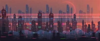 Futuristic Vice Pixel Retro Gifs Landscape Russian