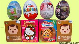 Chocolate Surprise Eggs Minnie Mouse Shopkins Kinder Toy ...