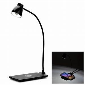 Lampe De Bureau Sans Fil : qi chargeur sans fil pad led lampe de bureau blanche ~ Voncanada.com Idées de Décoration