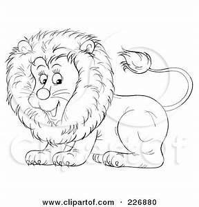 Clipart Illustration of a Playful Young Male Lion With A ...
