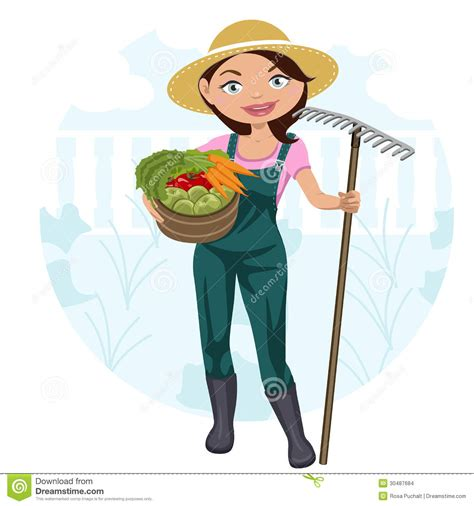 woman working   vegetable garden stock images image