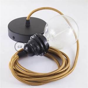 Cable Pour Suspension : lampe suspension pour abat jour c ble textile effet soie whiskey rm22 ~ Teatrodelosmanantiales.com Idées de Décoration