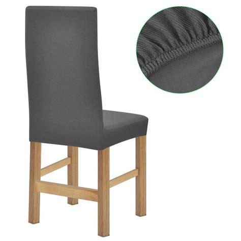 housse de chaise gris acheter vidaxl housse de chaise en polyester tricoté