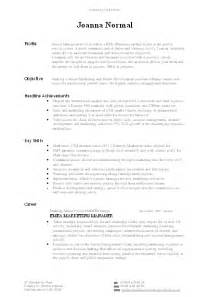 Professional Profile CV Examples