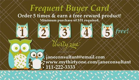 frequent buyer card template 736 x