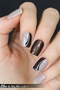 Beautiful photo nail art brown designs