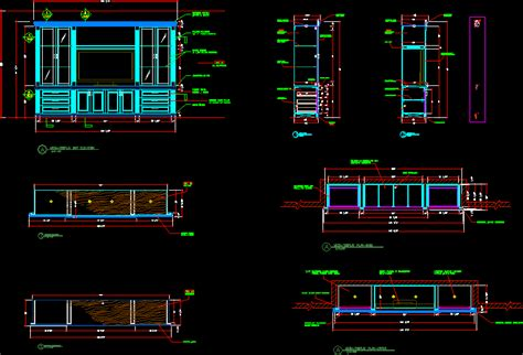 media wall unit  autocad  cad   kb