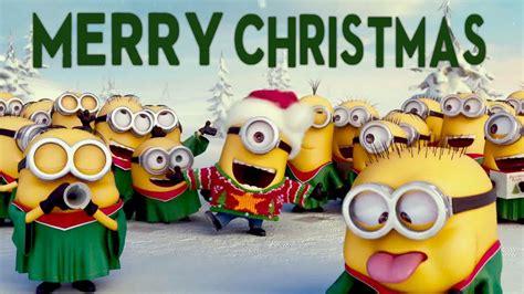 funny minions merry christmas music video feliz natal m 250 sica youtube