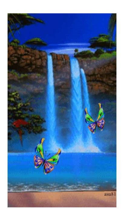 Waterfall Nature Screensavers Animated Background Places Pretty