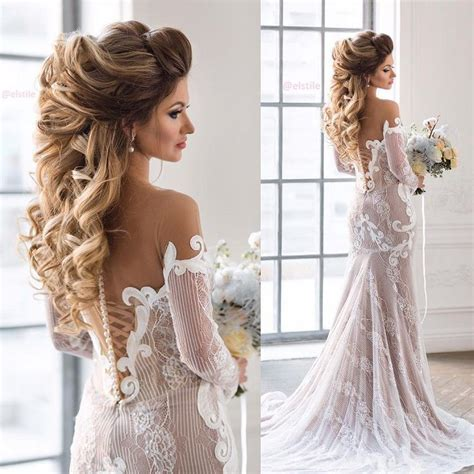 beautiful bridal hairstyle  long hair wedding hairstyles